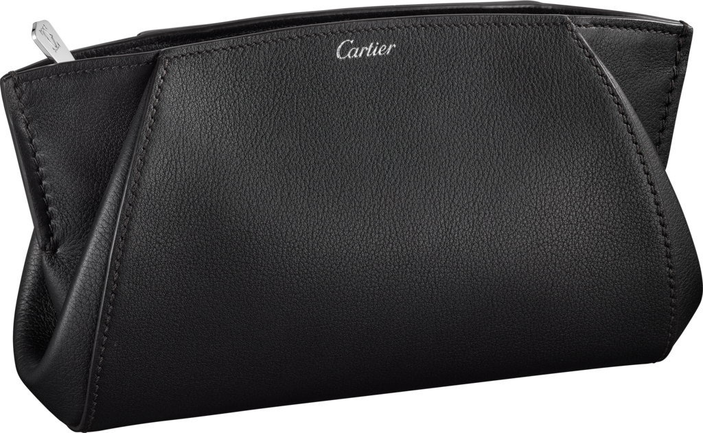 Small Leather Goods C de Cartier clutch bagOnyx-colored taurillon leather, palladium finish