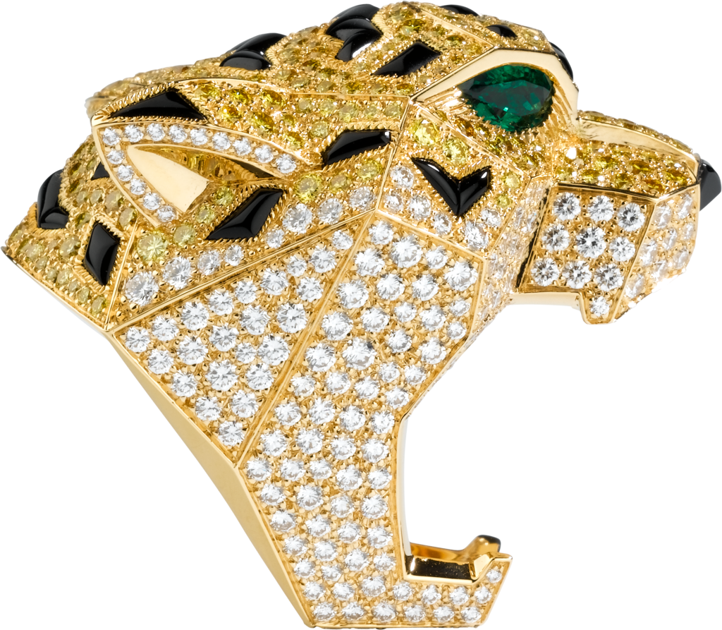 Faune et Flore de Cartier ringYellow gold, emeralds, onyx, yellow diamonds, diamonds