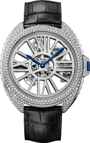 Clé de Cartier Automatic Skeleton gem-set watch