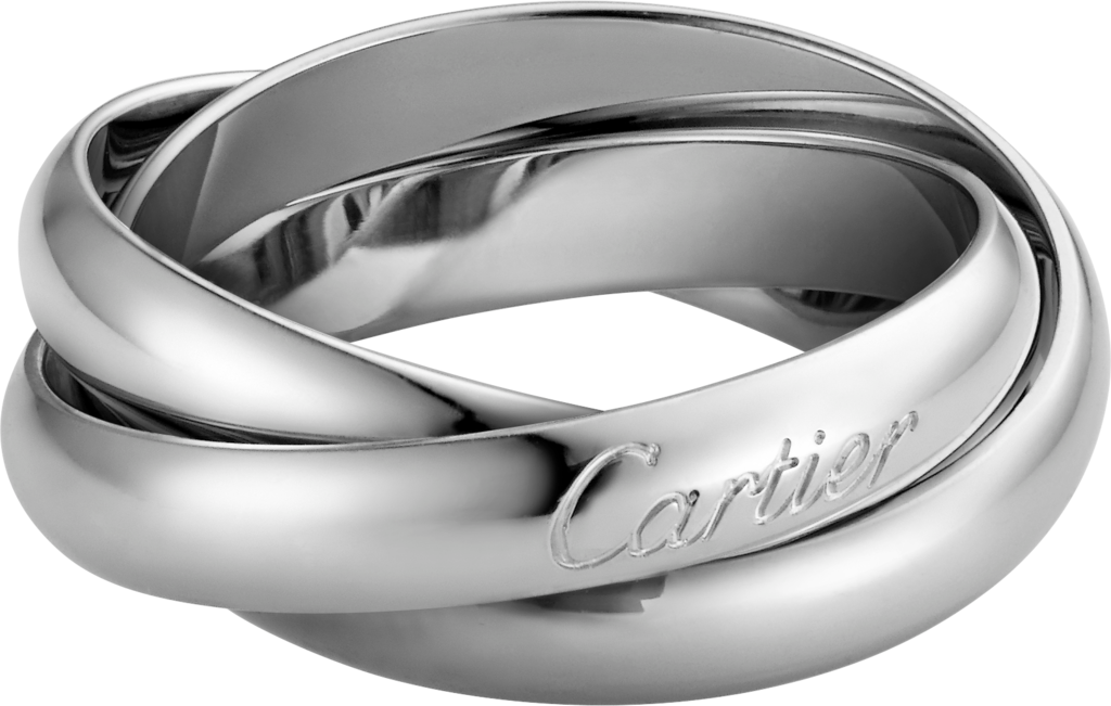 Trinity ring, classicWhite gold