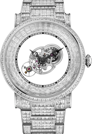 Rotonde Astromystérieux watch with baguette-cut stones