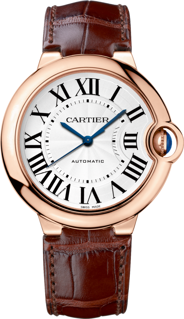 Ballon Bleu de Cartier watch36 mm, 18K pink gold, leather, sapphire