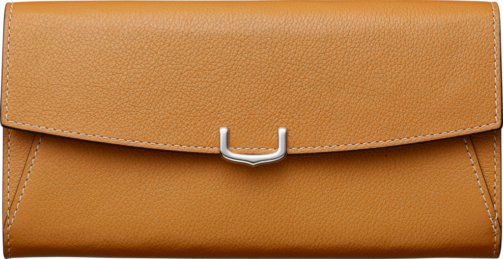 Small Leather Goods C de Cartier, international walletImperial topaz-colored taurillon leather, palladium finish