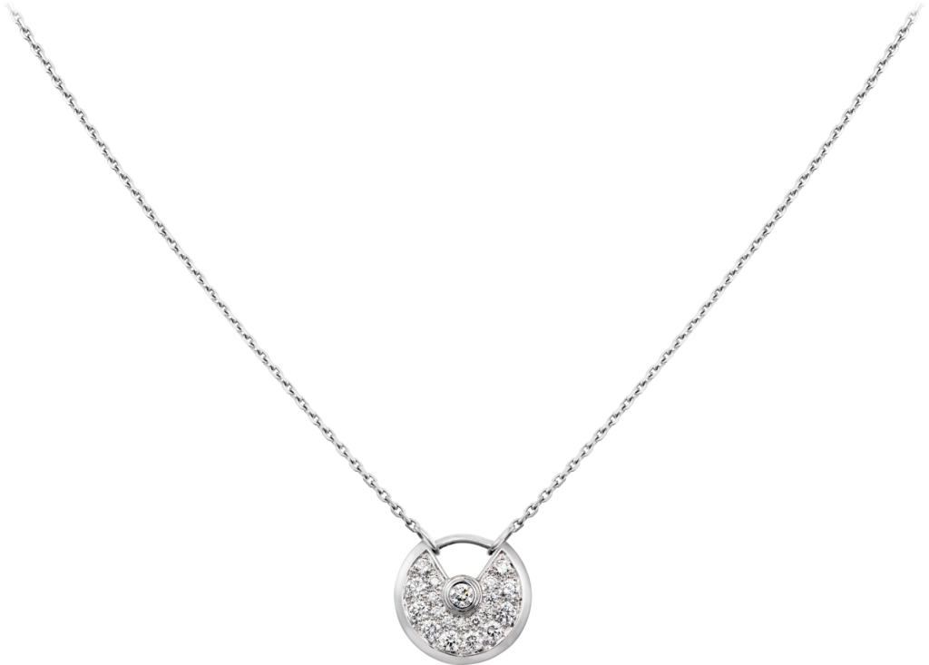 Amulette de Cartier necklace, XS modelWhite gold, diamonds