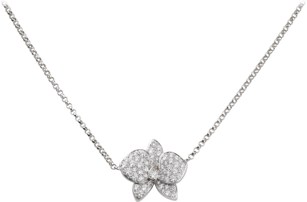Caresse d'Orchidées par Cartier necklaceWhite gold, diamonds