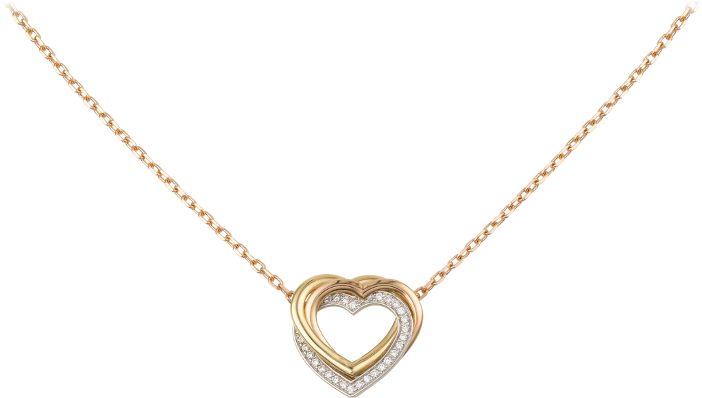 Trinity necklaceWhite gold, yellow gold, pink gold, diamonds