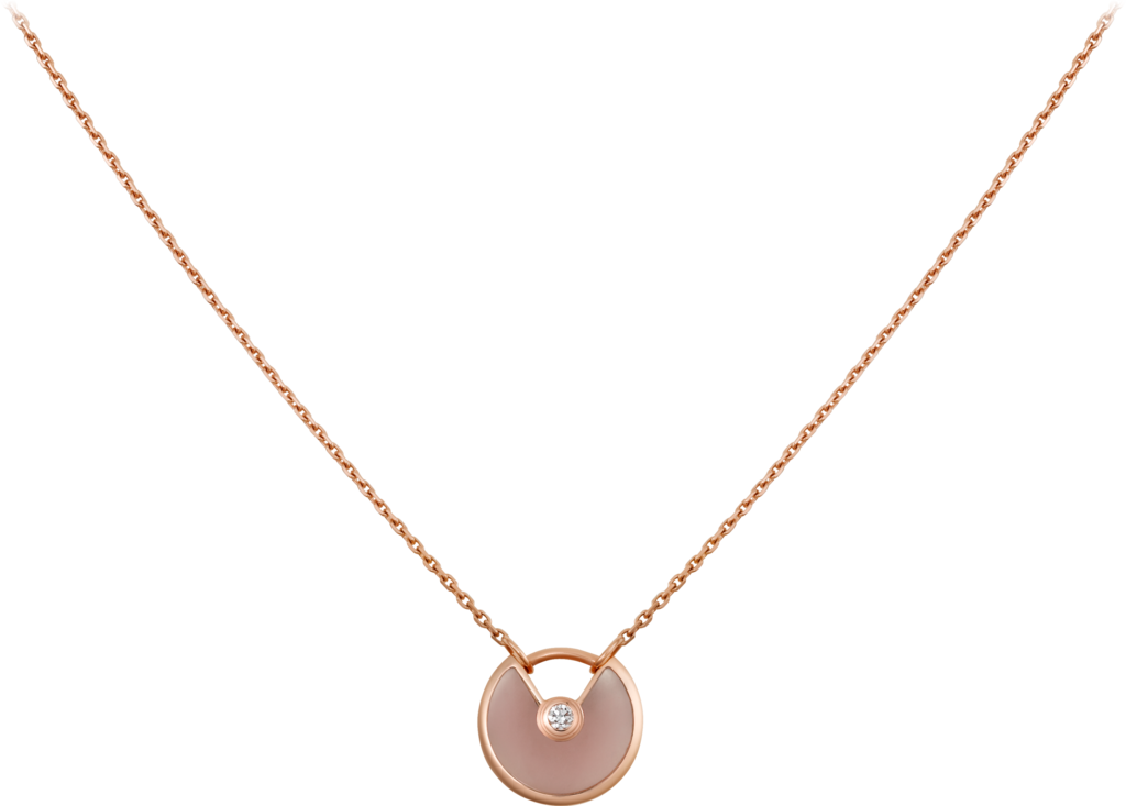Amulette de Cartier necklace, XS modelPink gold, pink opal, diamond