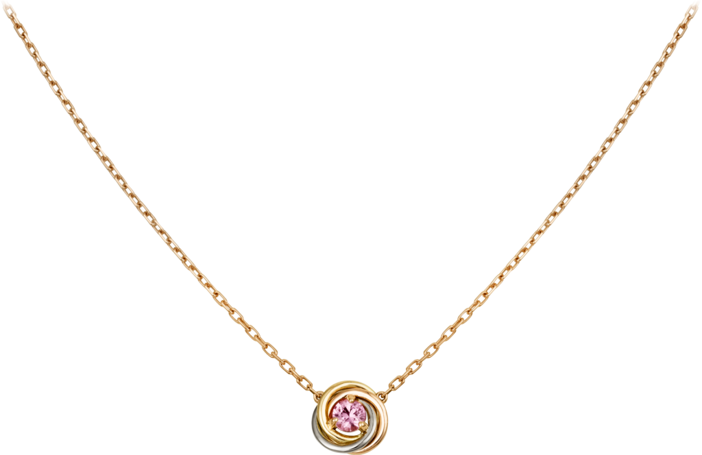 Trinity necklaceWhite gold, yellow gold, pink gold, sapphire