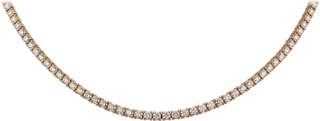 Essential Lines necklacePink gold, diamonds