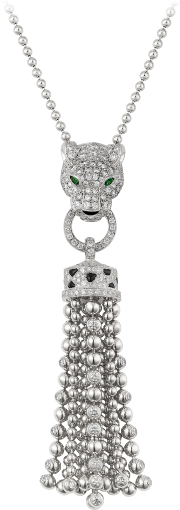 Panthère de Cartier necklaceWhite gold, emeralds, diamonds, onyx