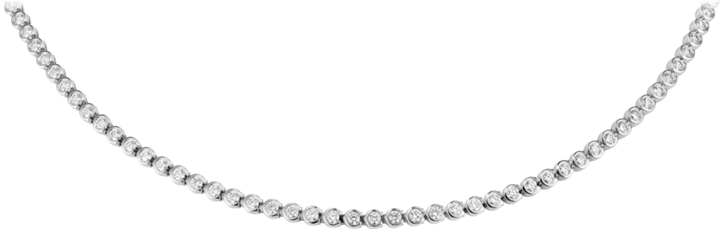 C de Cartier necklaceWhite gold, diamonds