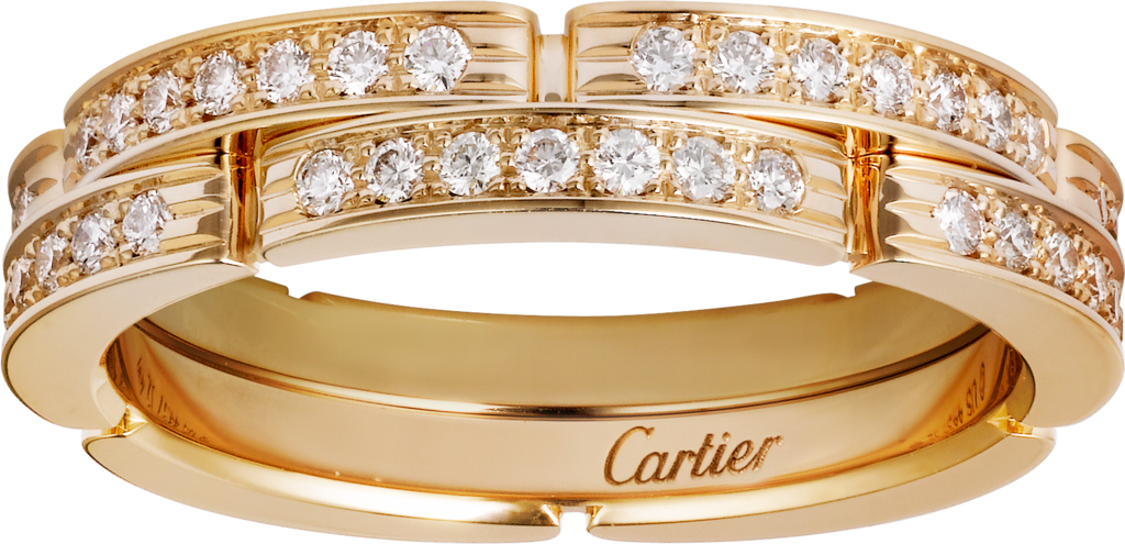 Maillon Panthère ringYellow gold, diamonds
