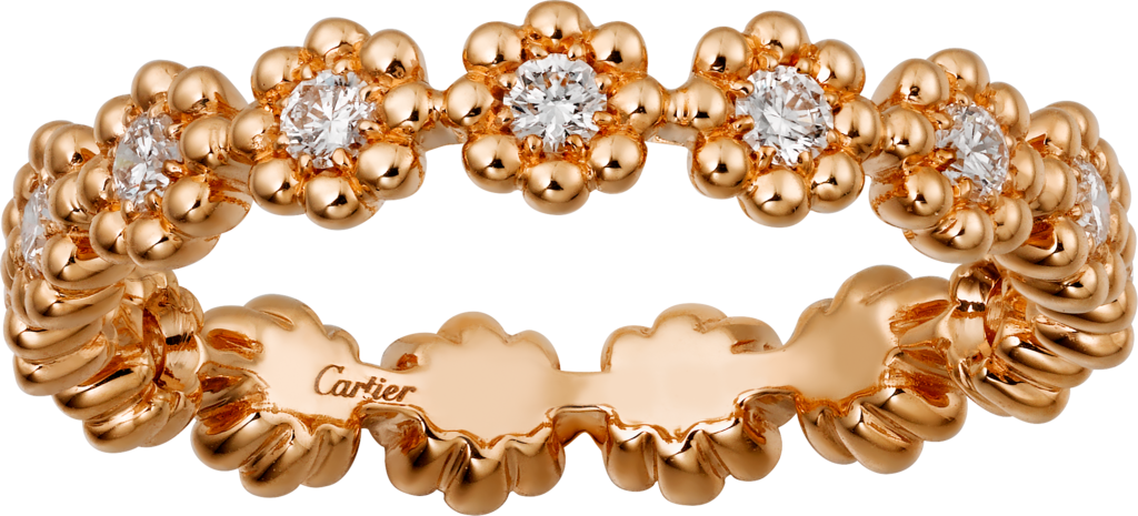 Cactus de Cartier wedding bandPink gold, diamonds