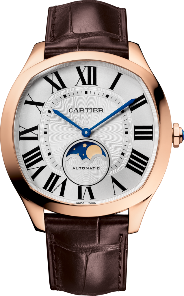 Drive de Cartier Moon Phases watchPink gold, leather