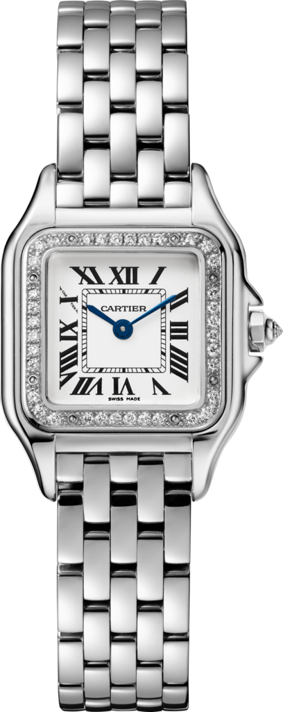Panthère de Cartier watchSmall model, rhodiumized white gold, diamonds