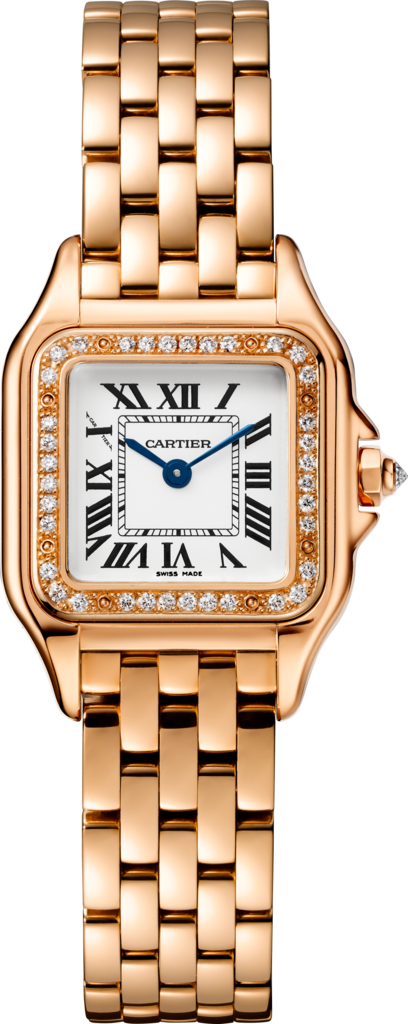 Panthère de Cartier watchSmall model, pink gold, diamonds