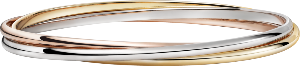 Trinity braceletWhite gold, pink gold, yellow gold
