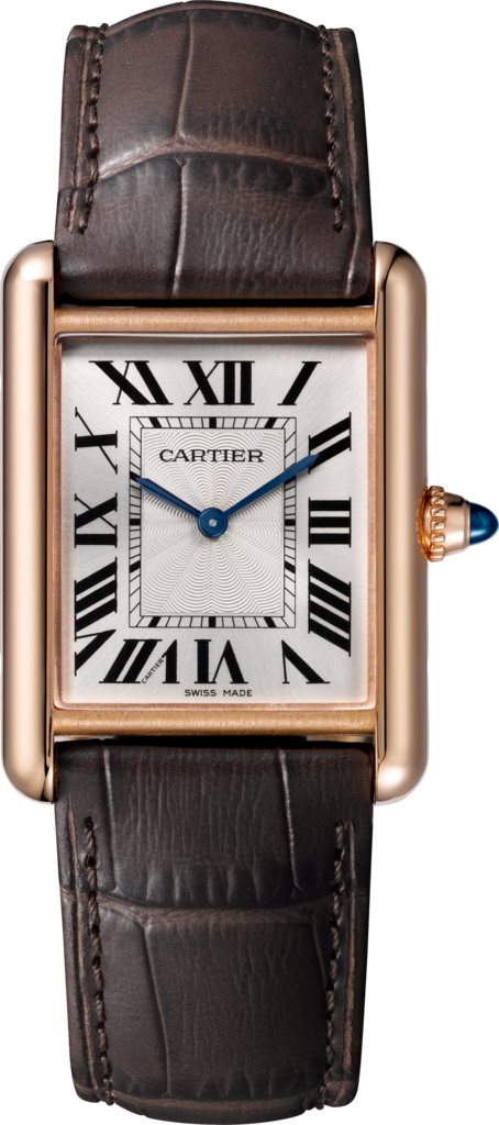 Tank Louis Cartier watchLarge model, pink gold, leather