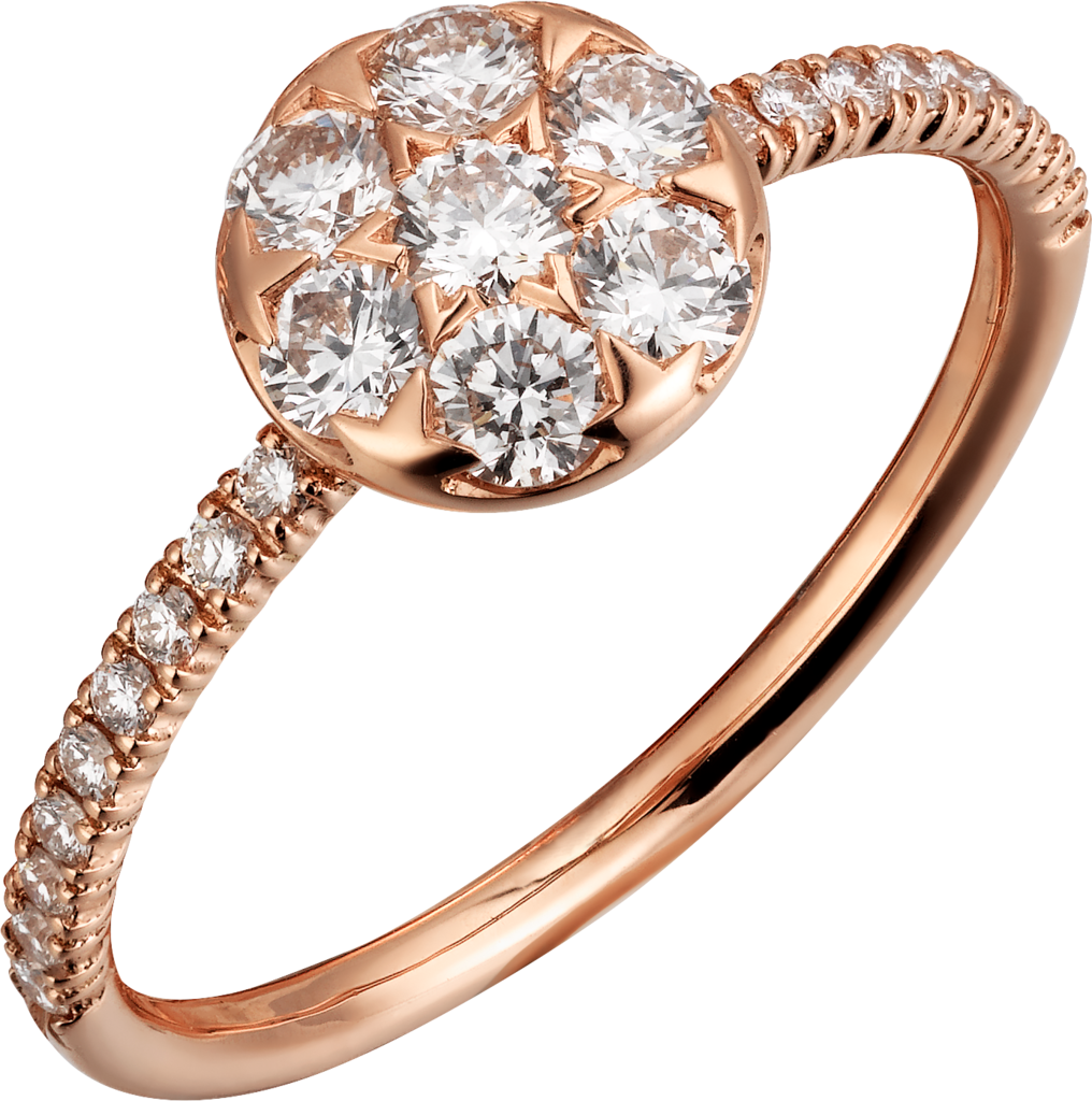Etincelle de Cartier ringPink gold, diamonds
