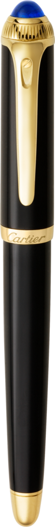 R de Cartier penBlack composite, yellow golden finish details