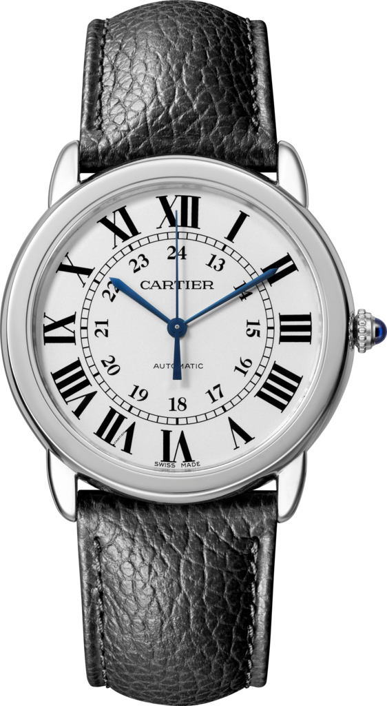Ronde Solo de Cartier watch36mm, steel, leather