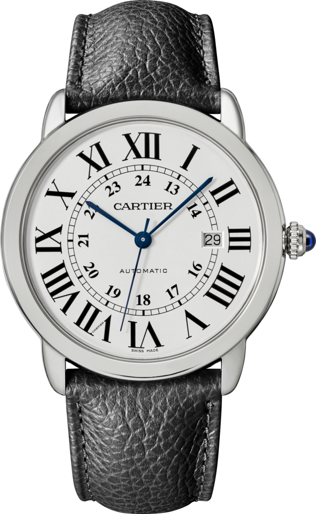 Ronde Solo de Cartier watch42mm, steel, leather