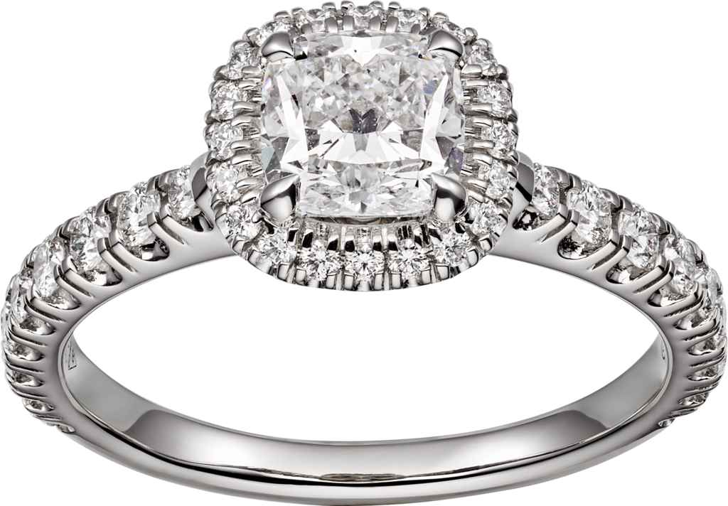 Cartier Destinée ringPlatinum, diamonds