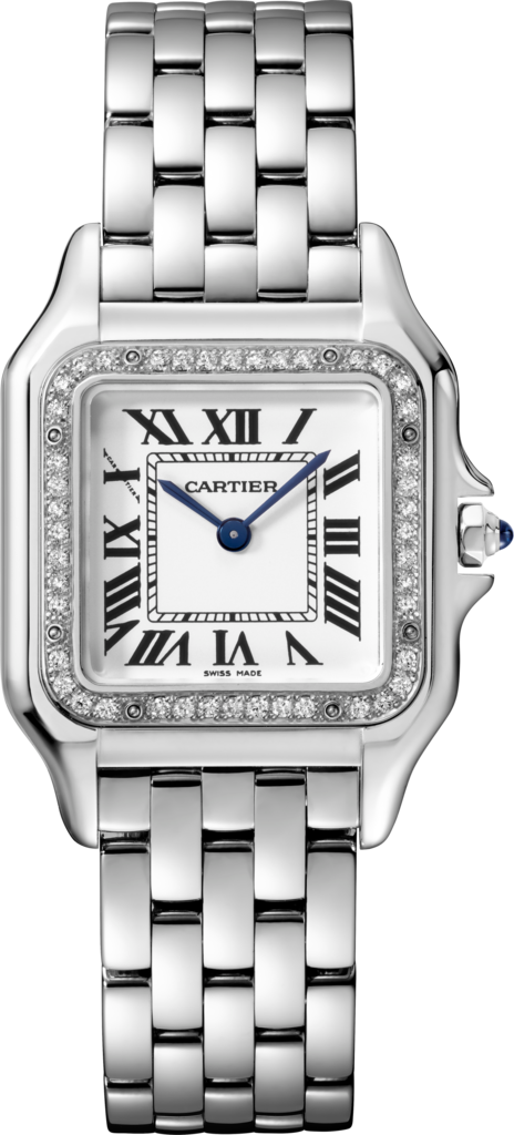 Panthère de Cartier watchMedium model, steel, diamonds