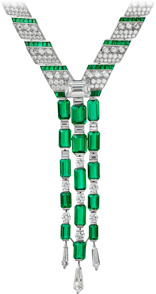 High Jewelry necklacePlatinum, emeralds, diamonds