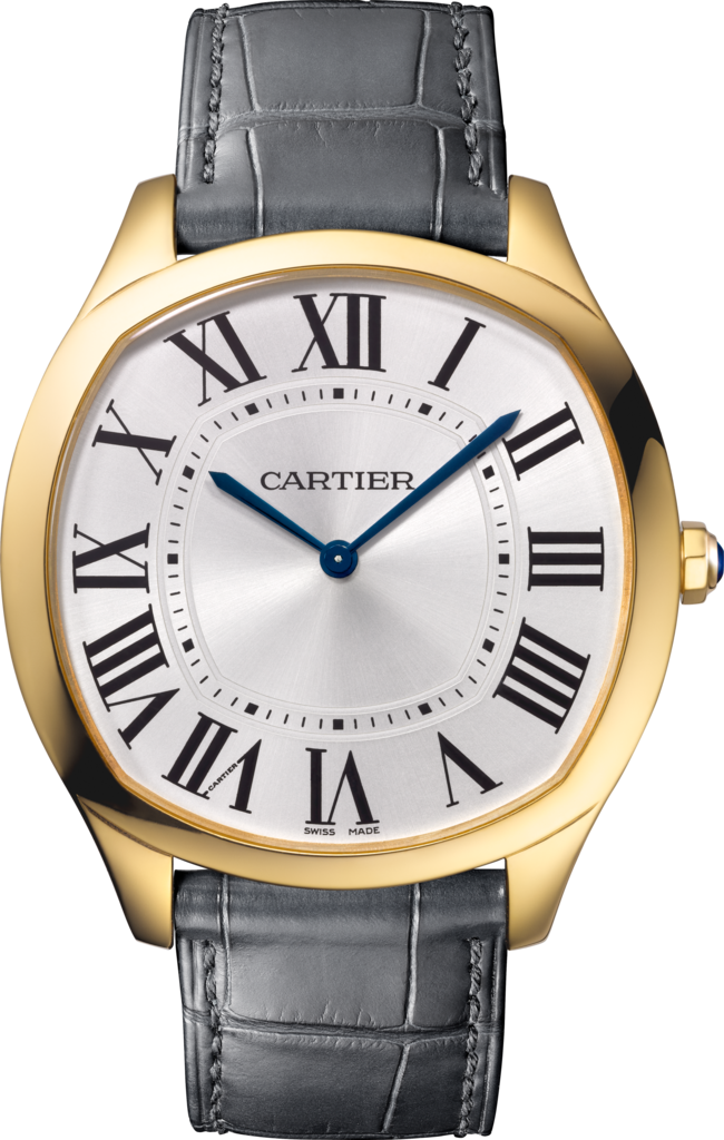 Drive de Cartier watchYellow gold, leather