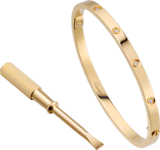<span class='lovefont'>LOVE</span> bracelet, small model, 10 diamonds
