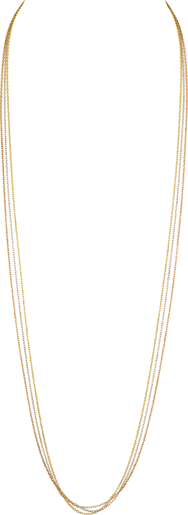 Trinity de Cartier necklaceWhite gold, yellow gold, pink gold