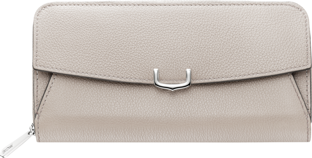 C de Cartier Small Leather Goods, zipped international walletMoonstone taurillon leather, palladium finish