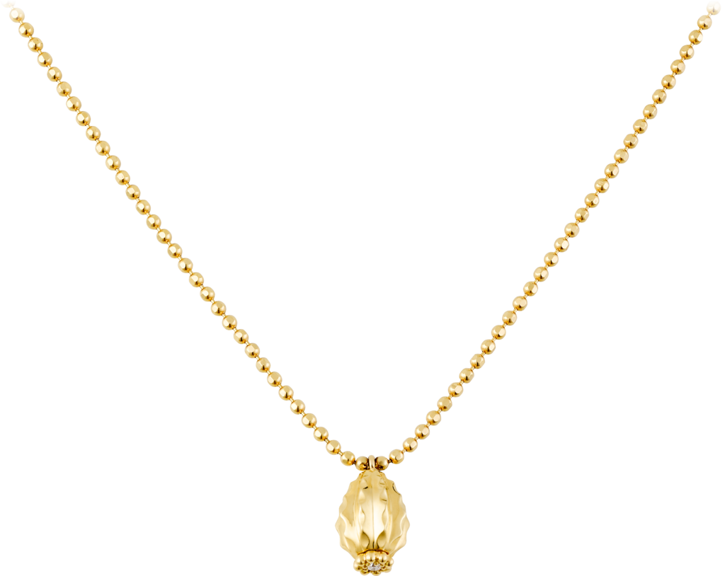 Cactus de Cartier necklaceYellow gold, diamonds