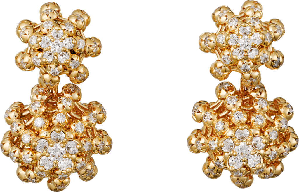 Cactus de Cartier earringsYellow gold, diamonds