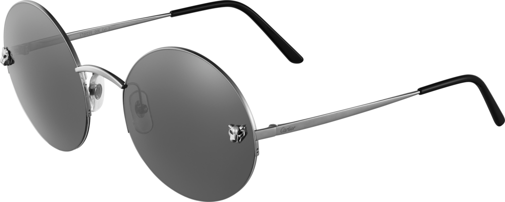 Panthère de Cartier sunglassesGray metal, anthracite PVD finish, gray lenses with slight silver-toned flash.