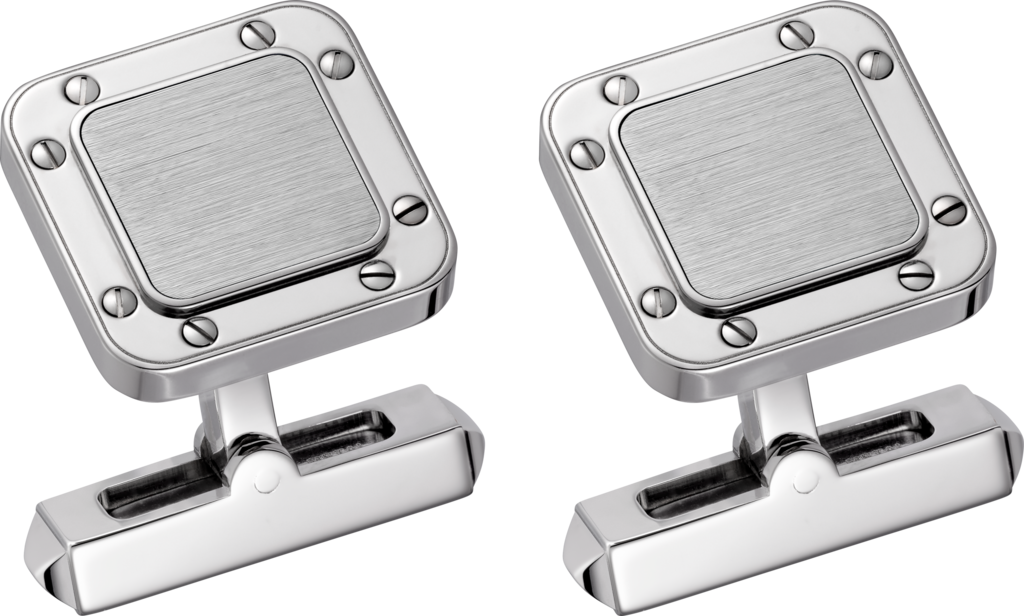 Santos de Cartier cufflinksSterling silver, palladium finish