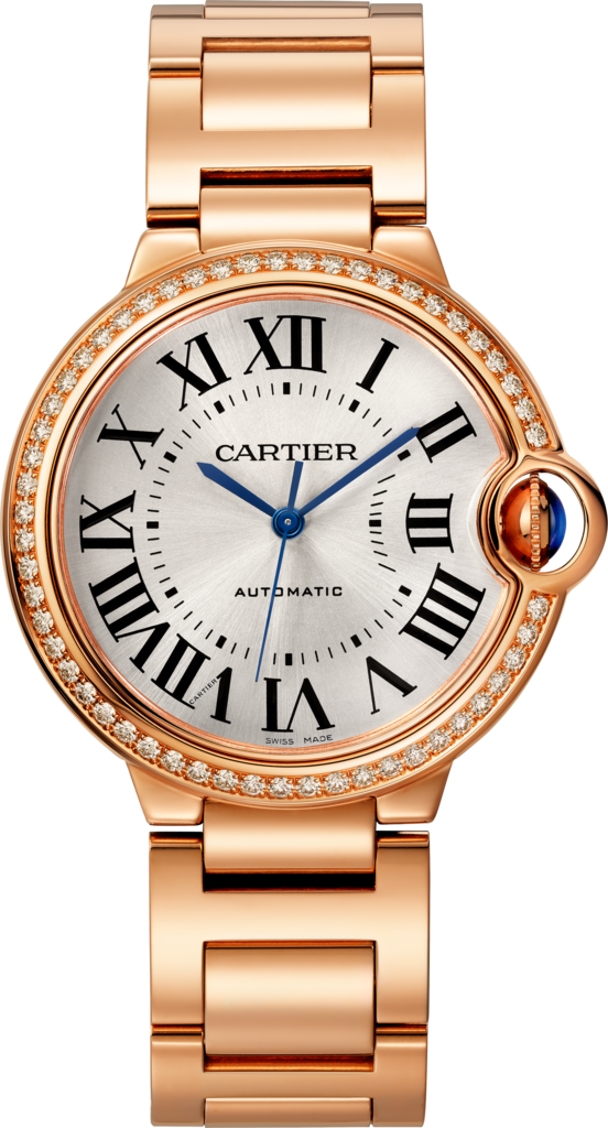 Ballon Bleu de Cartier watch36 mm, pink gold, diamonds