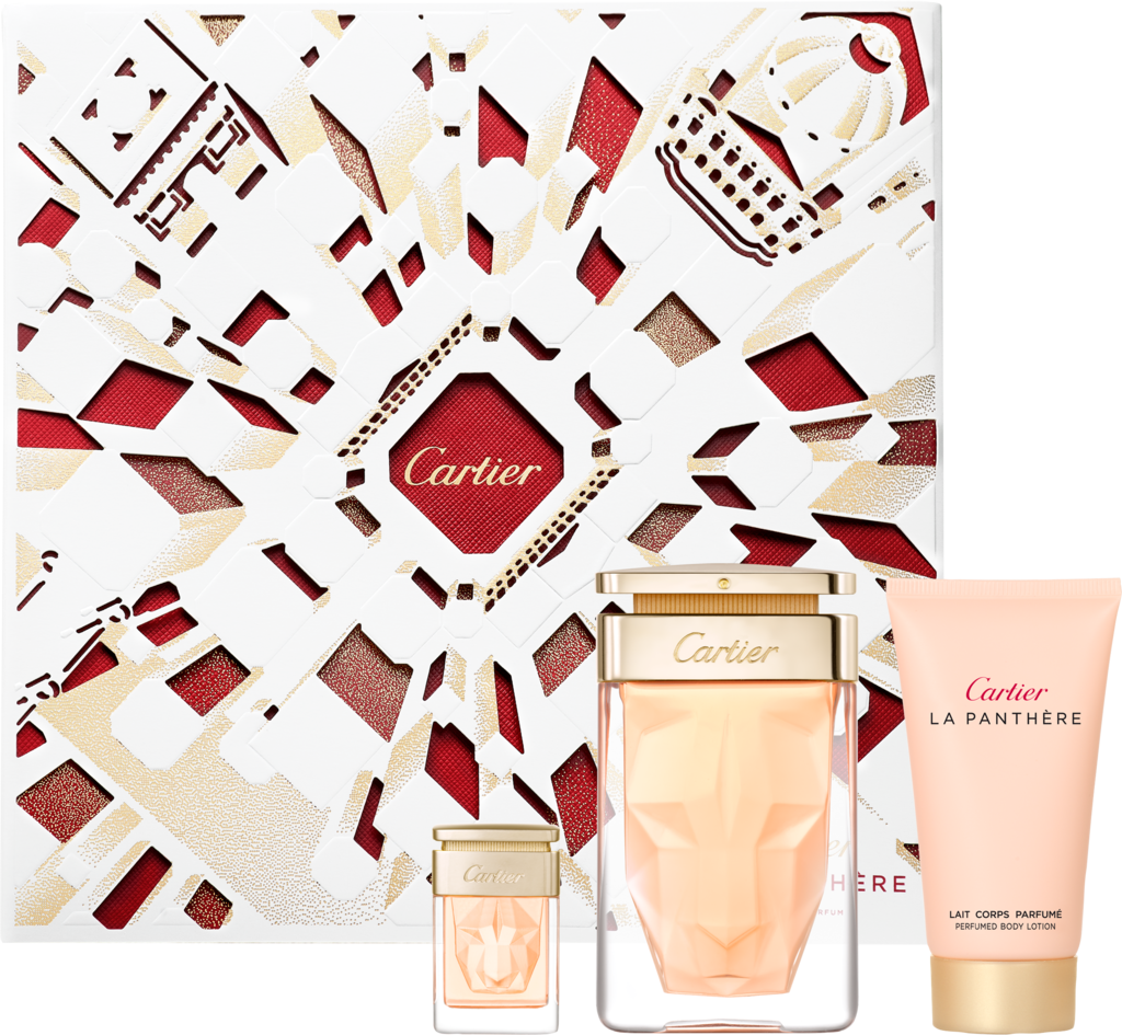 La Panthère 75 ml Eau de Parfum Gift Set with 50 ml Body Lotion + 6 ml MiniatureBox