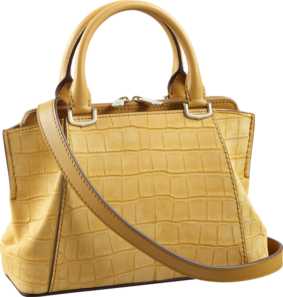C de Cartier bag, mini modelCitrine nubuck alligator skin, gold finish
