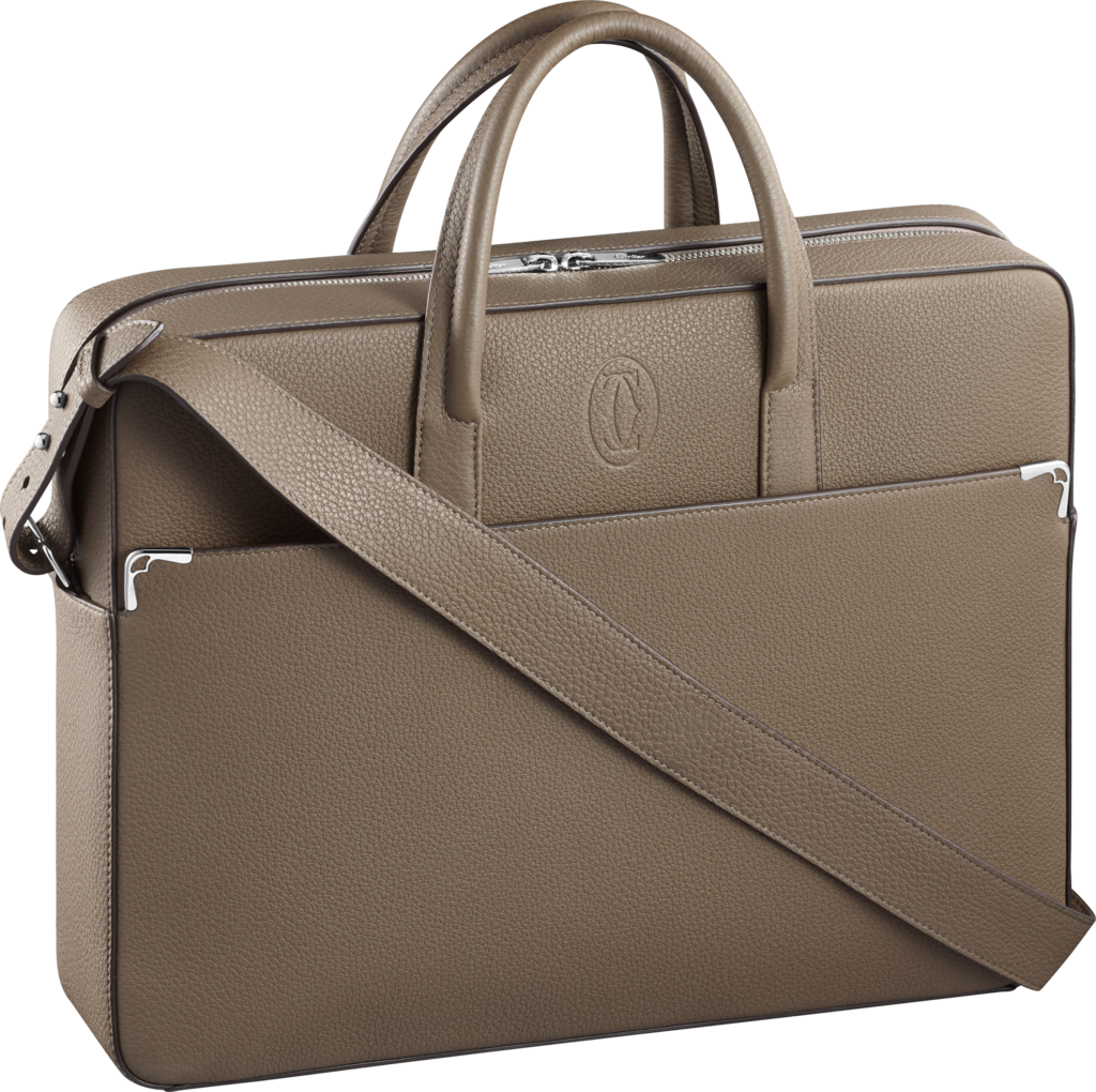 Must de Cartier bag, document holderTaupe-colored grained calfskin, palladium finish