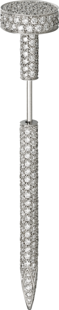 Juste un Clou tie pinWhite gold and diamonds