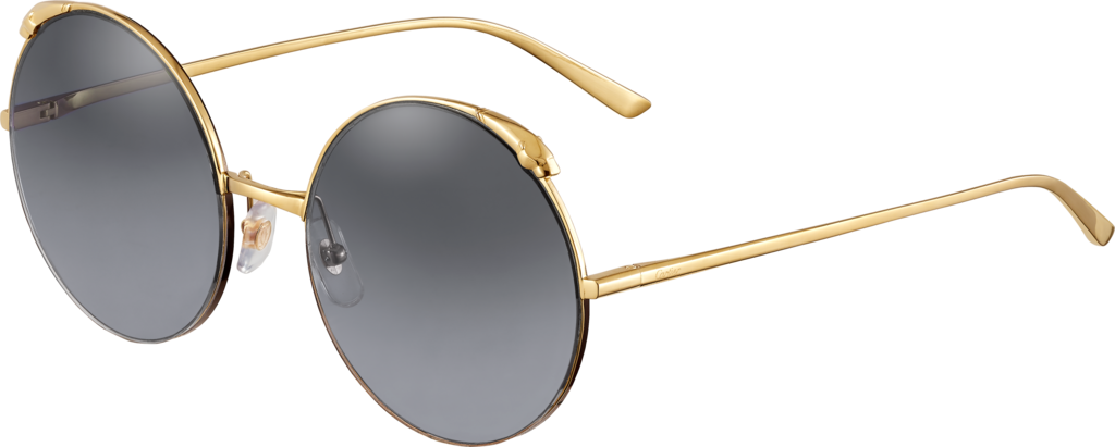 Panthère de Cartier sunglassesChampagne golden-finish metal, graduated gray lenses