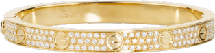 <span class='lovefont'>LOVE</span> bracelet, diamond-paved