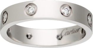 <span class='lovefont'>LOVE</span> wedding band, 8 diamonds
