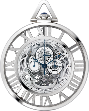 Rotonde de Cartier Grande Complication Skeleton pocket watch