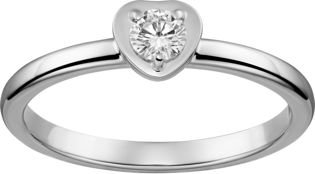 Diamants Légers ring, heart motifWhite gold, diamond