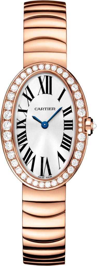Baignoire watch, small modelSmall model, 18K pink gold, diamonds