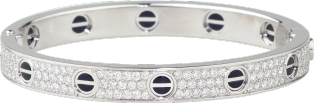 <span class='lovefont'>LOVE</span> bracelet, diamond-paved, ceramic