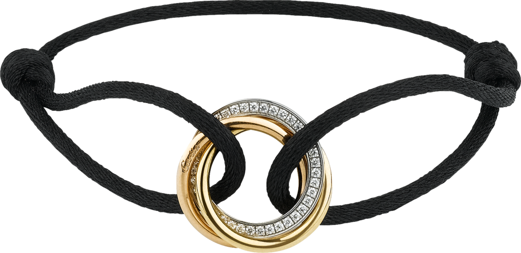 Trinity braceletWhite gold, yellow gold, pink gold, diamonds